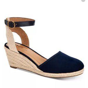 Style Co Mailena Espadrille Sandal Black 9.5 M New